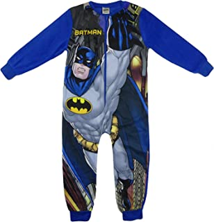 Boys Character All in One Sleepsuit Pajamas Soft Fleece 2-3years to 9-10 Years