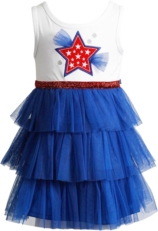 Youngland Little Girls Patriotic Star Pageant Tutu Dress