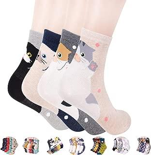 OKIE OKIE Women Christmas Gift Socks - Animal Cat Dog Art Animation Character Cute | Santa Gift | Socks Women