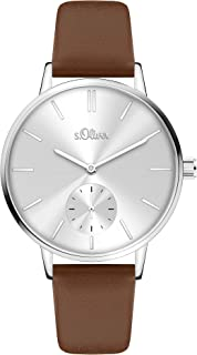 s.Oliver Damen Analog Quarz Uhr SO-4342-LQ