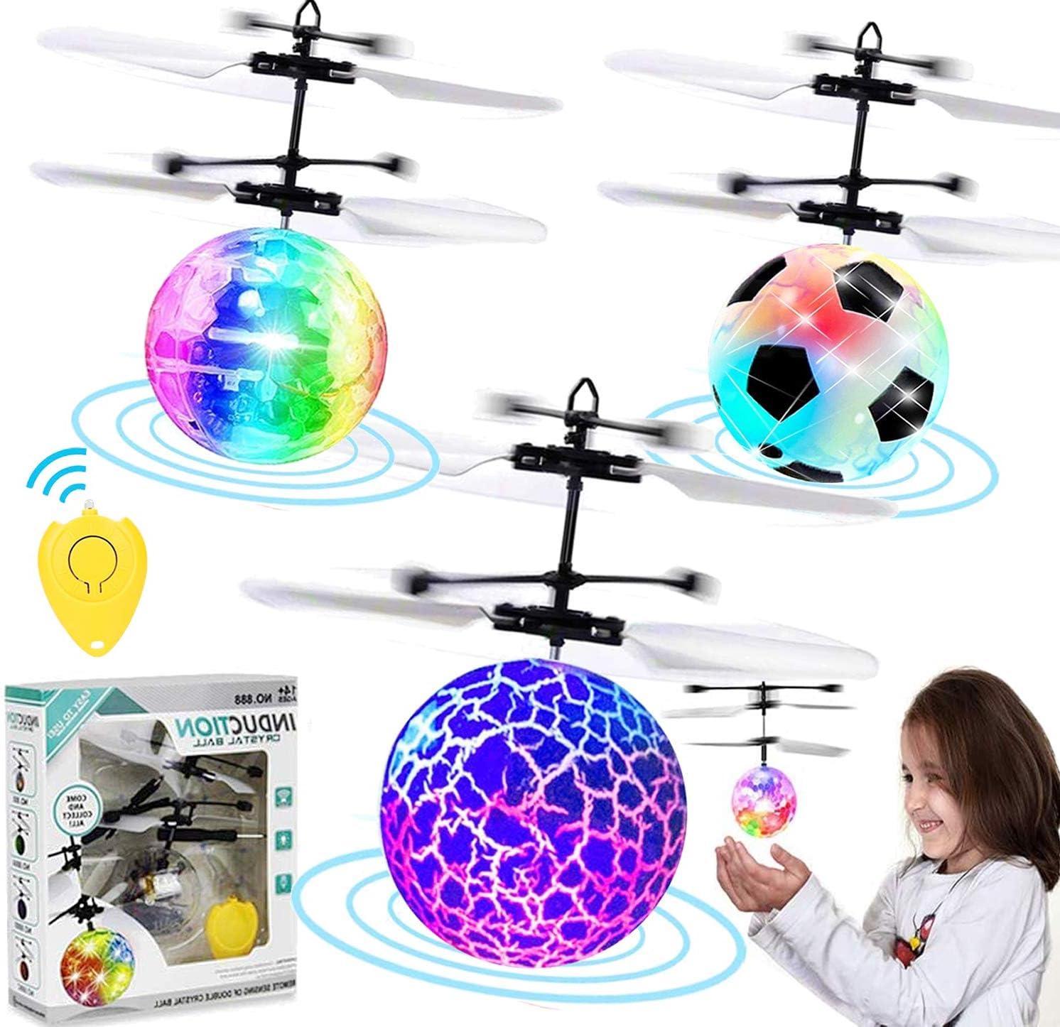 IGoGo-Crystal Ball Toy Wheel with LED Light radioc helicopter