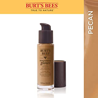 Burt's Bees Goodness Glows Liquid Foundation, Pecan, 29.5 mL