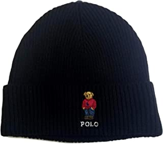 Polo Ralph Lauren Unisex Bear Design Wool Winter Skulllie Cap Beanie Hat One Size
