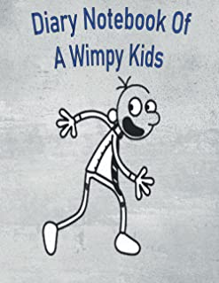 """Diary Notebook Of A Wimpy Kids: Journal and Notebook for Girls - Composition Size (6""""x9"""") With Lined and Blank Pages, Perf..."""