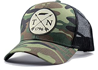 Homeland Tees Men's Tennessee Arrow Patch Army Camo Trucker Hat