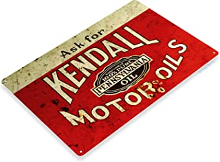 Tinworld Tin Sign Kendall Motor Oil Retro Rustic Oil Gas Station Metal Sign Decor Garage Auto Shop Cave B725