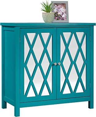 Sauder Harbor View Accent Storage Cabinet, Caribean Blue finish