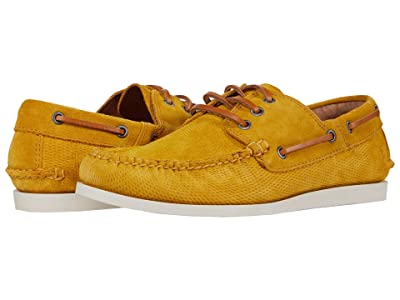 Frye Briggs Boat Shoe (Honey Diamond Suede) Men