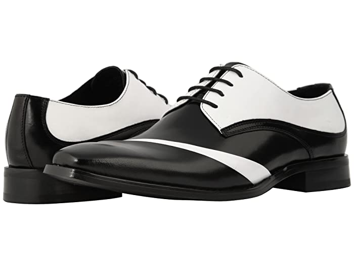 Retro Clothing for Men | Vintage Men's Fashion Stacy Adams Talmadge Lace Up Oxford BlackWhite Mens Shoes $107.70 AT vintagedancer.com