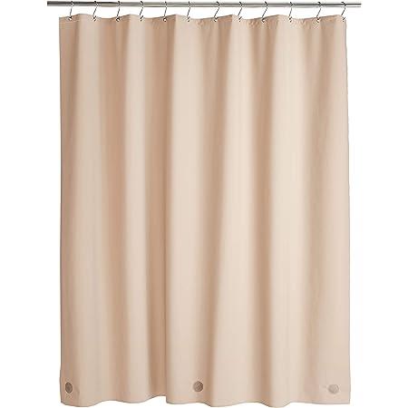 Amazon Basics - Cortina de ducha de PEVA de peso medio, lino, 183 x 183 cm
