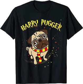 Harry Pugger Pug Witch Halloween T-Shirt - Pug Shirts