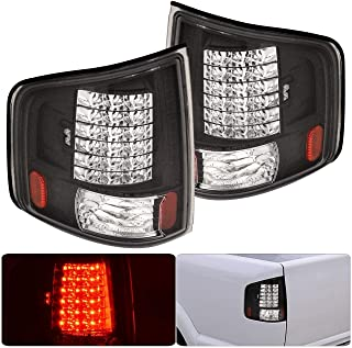 Fit 1994-2004 Chevy S10 Truck / 1994-2004 GMC Sonoma / 1996-2000 Isuza Hombre Led Tail Lights Black Housing/Clear Lens