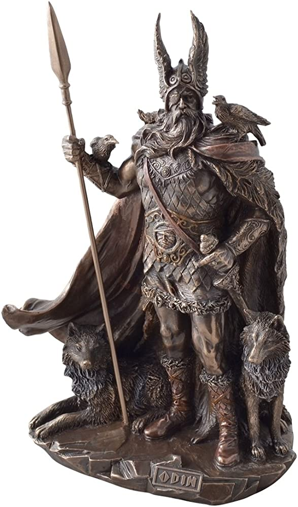 statua del dio odino bronzata