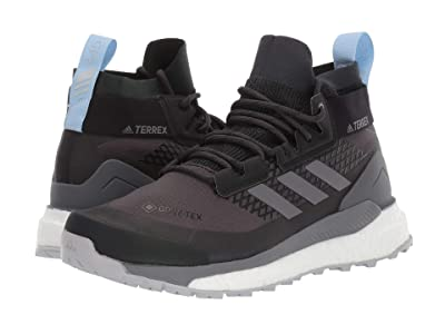adidas Outdoor Terrex Free Hiker GTX (Carbon/Grey Four/Glow Blue) Women