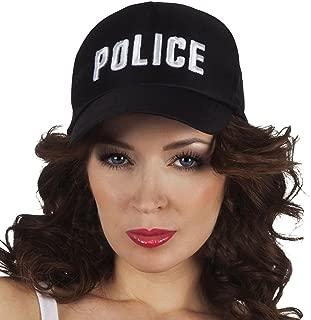 Costume Polizia Berretto Piatto Cappello misura adulto