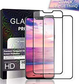 JKPNK LG G8 ThinQ Screen Protector Glass [2 Pack], Full Coverage HD Anti-Scratch [Bubble-Free] Glass Screen Protector for LG G8 ThinQ