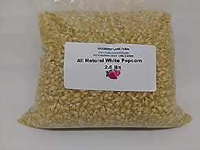 Popcorn Popping Corn, White 2.5 Pounds Kernels, All Natural, Whole Grain, Non-GMO, (for Eating Not Planting) Bulk