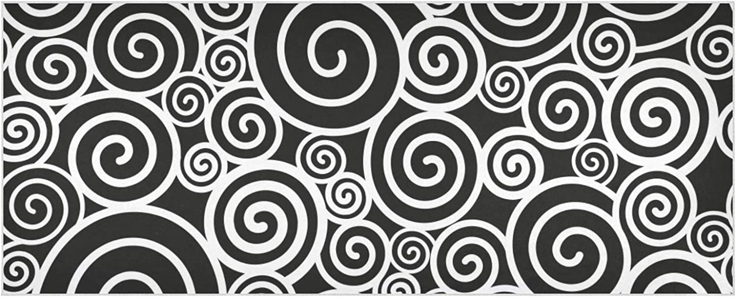 Women's Oklahoma City Mall Warm Scarf Store Black White Pattern Thic Extra Spirals Large