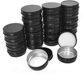 Aybloom Aluminum Tin Cans - 24 Pack 2OZ / 60G Round Metal Tin Container Screw Top Steel Tin Cans Cosmetic Sample Container...