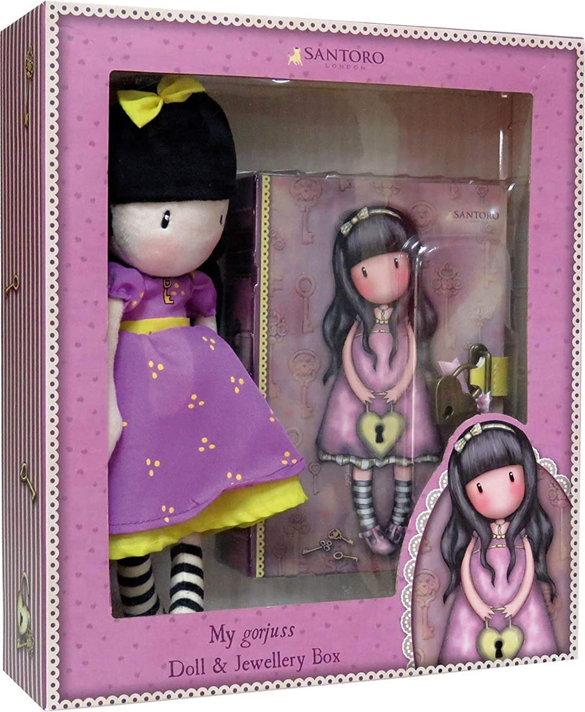 C Y P Set Gorjus Puppe Time The Secret Mas Schmuckkästchen mit Vorhängeschloss 28 x 8,5 x 32 cm Mehrfarbig (CK-11M-G B07HM427PP Angemessener Preis | Lebhaft und liebenswert