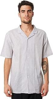 Huffer Men's Sorrento Mens Shirt Short Sleeve Grey