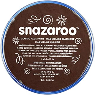 Snazaroo - Pintura facial y corporal, 18 ml, color marrón