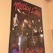 """Motley Crue 24.5/"""" x 36.5/"""" Girls Girls Girls Laminated Music Poster"""