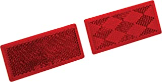 Reese Towpower 73888 Red Quick Mount Rectangular Reflector, 2 Pack