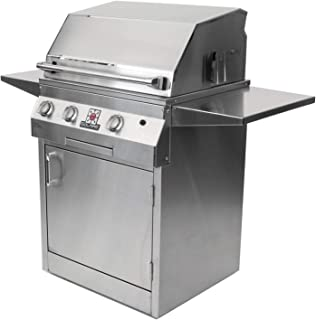 Solaire 27-Inch Deluxe InfraVection Propane Grill on Square Cart with Rotisserie Kit, Stainless Steel