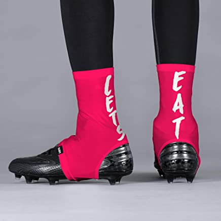 9ca8912fcb9 Let s Eat Pink Spats Cleat Covers