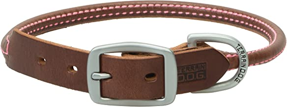 Terrain D.O.G. Bridle Leather Rolled Dog Collar