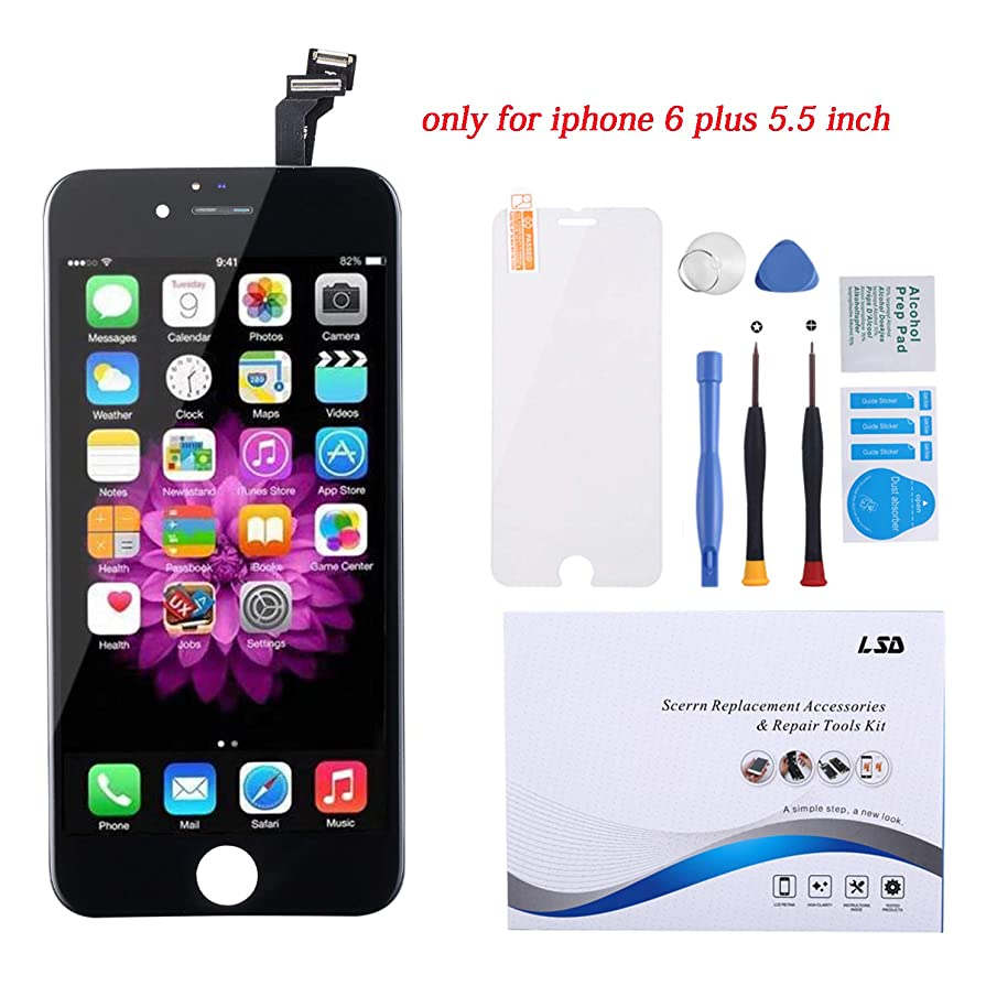 for iPhone 6 Plus Screen Replacement Black 5.5