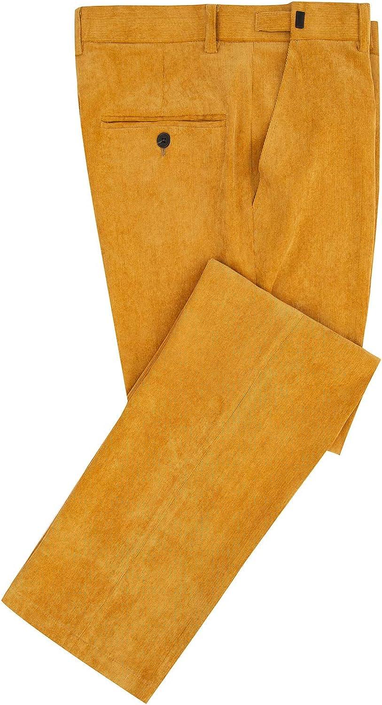 Hanayome Men's Stretch Corduroy Pants Slim Fit Skinny Business Suit Pants…