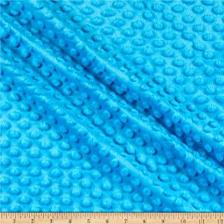 Crafting Minky Dot Turquoise Fabric