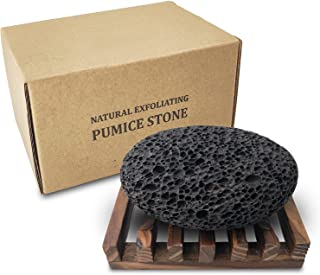 Pumice Stone for foot, Natural Earth Lava Shower Pumice Stone Black, Exfoliating Rock for Feet, Pedicure Rocks, Stone for ...