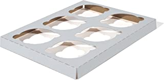 Southern Champion Tray 1010 Clay Coated Kraft Paperboard 6-ct Cupcake Insert, 8-7/8