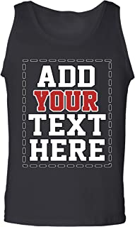 Custom Tank Tops for Men - Design Your Own Tank Top - Customized & Personalized Tanktops with Text