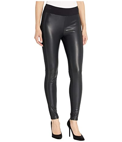 kensie Stretch Faux Leather Leggings KS9K1252 (Black) Women