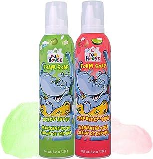 Moneysworth & Best Fun House Kids Foam Soap Green Apple & Raspberry-Lime, 2 Pack