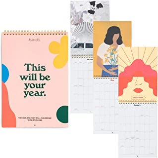 Ban.do Best Year Ever 2021 Wall Calendar with Stickers, Hanging Planner Covers January 2020 - December 2020, This Will Be ...