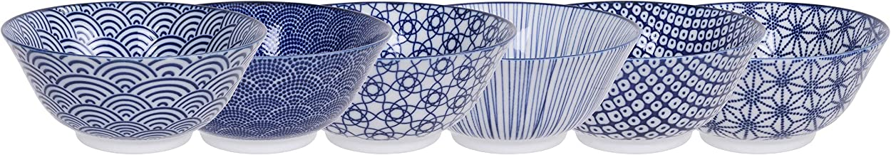 TOKYO design studio Nippon Blue 6-er Schalen-Set blau-weiß,