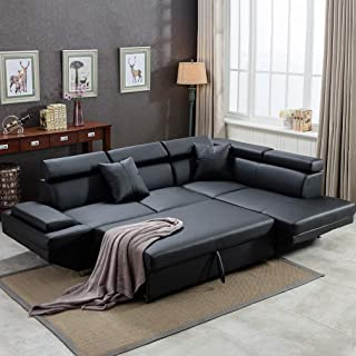 Amazon.com: Black - Living Room Sets / Living Room Furniture ...