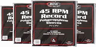 BCW 45 RPM Vinyl Record Sleeves 7-3/8
