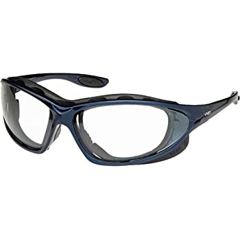 Clear Hardcoat Lens//Headband Metallic Blue Frame Uvex S0620 Seismic Safety Eyewear