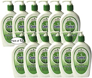 Dettol Original Liquid Hand Wash(200ml) (Pack of 12) PACKAGING MAY VARY