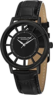 Stuhrling Original Men's 388S Winchester Swiss Quartz Transparent Watch with Additional Strap