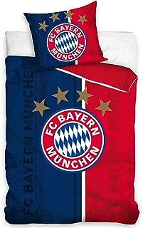 FC Bayern Munich Bed Linen Single Duvet Cover Set Football 160x200 – Red 01 Blue