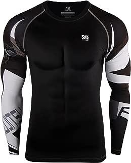 zipravs MMA Compression Tight Shirt Longsleeve Running Baselayer