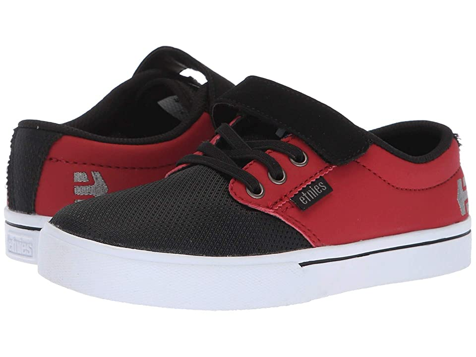 etnies Kids Jameson 2 V (Toddler/Little Kid/Big Kid) (Black/Red) Boy