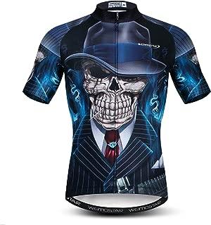 Men's Cycling Jerseys Tops 3D Print Biking Shirts Short Sleeve Full Zipper Bicycle Jacket Pockets Lycra Cuff
